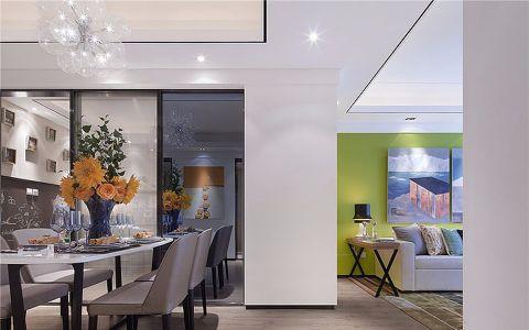 武夷绿洲现代简约三居室装修效果图