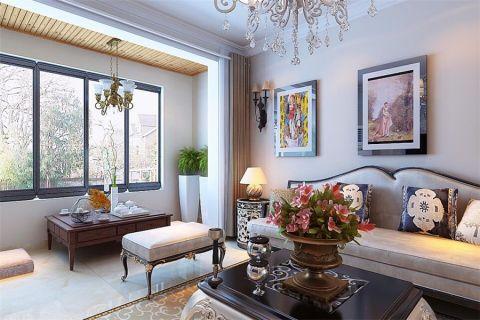 客厅照片墙简欧风格装饰效果图