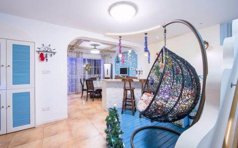 地中海风格150平米四室两厅新房装修效果图