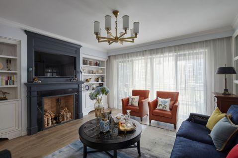 美式风格120平米三室两厅新房装修装修效果图