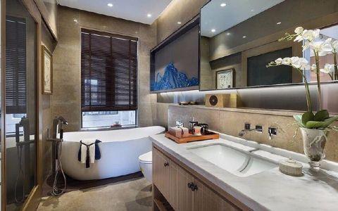 浴室浴缸新中式风格装饰效果图