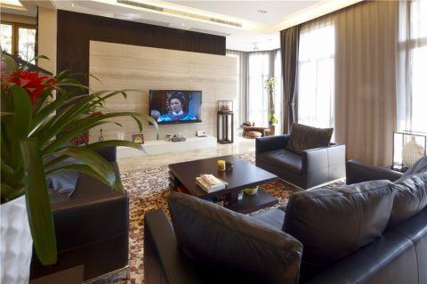 客厅窗帘后现代风格装饰效果图