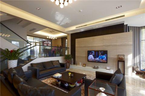 客厅沙发后现代风格装潢效果图