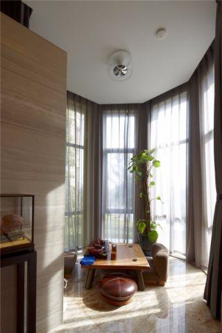 阳台窗帘后现代风格装修图片