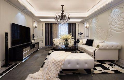 简欧风格180平米大户型室内装修效果图