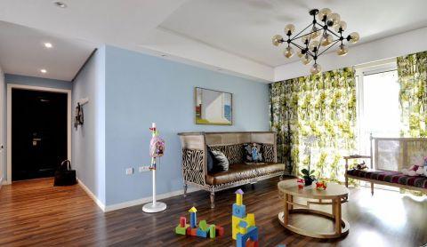 客厅茶几混搭风格装潢设计图片