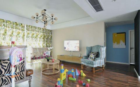 客厅吊顶混搭风格装修效果图
