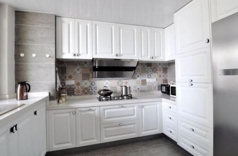 厨房地砖混搭风格装饰图片