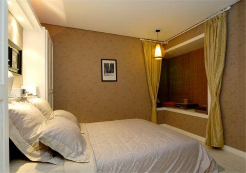 卧室背景墙日式风格装修效果图