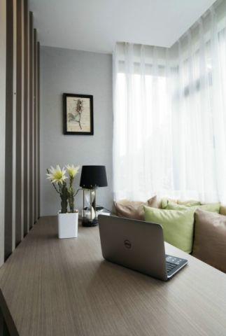 书房窗帘现代简约风格装修图片