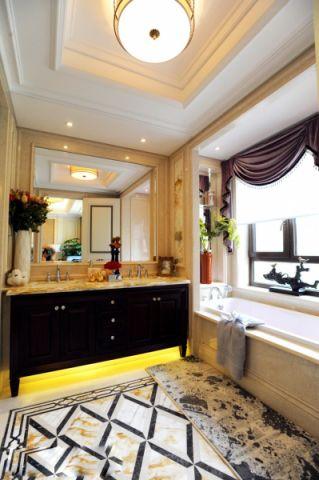 卫生间窗帘欧式风格装修效果图
