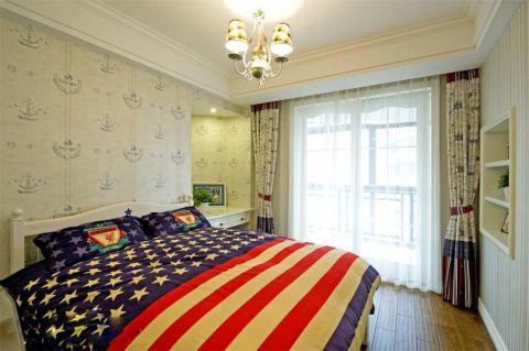 卧室床地中海风格装潢图片