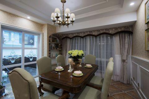 餐厅窗帘混搭风格效果图