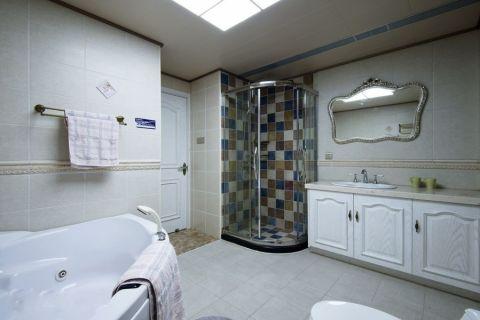 卫生间地砖混搭风格装潢效果图