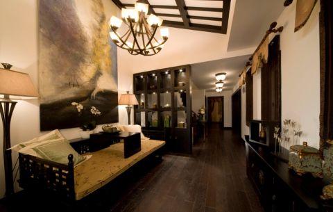 客厅地板砖中式风格效果图