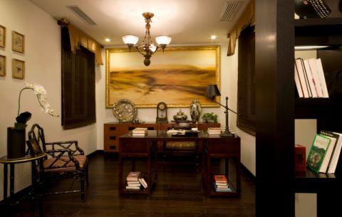 书房吊顶中式风格装潢图片