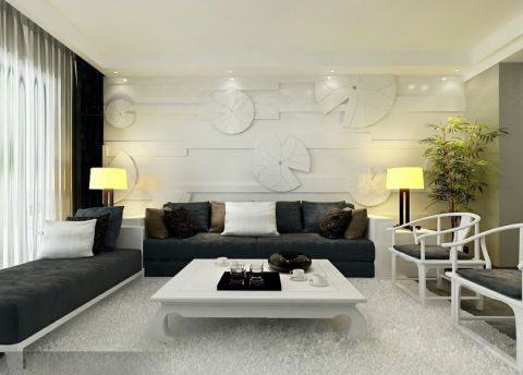 客厅茶几现代简约风格效果图