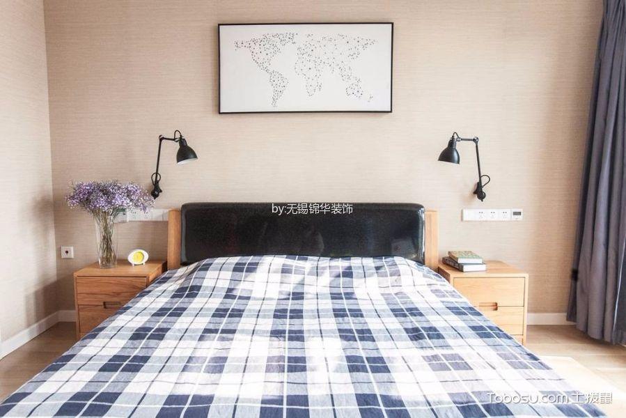 卧室橙色床北欧风格装饰图片