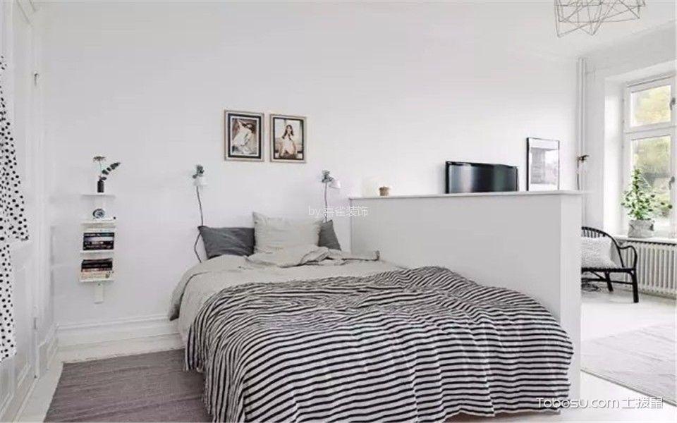 卧室白色照片墙现代简约风格装饰效果图