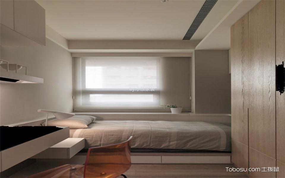卧室白色榻榻米现代简约风格装饰效果图