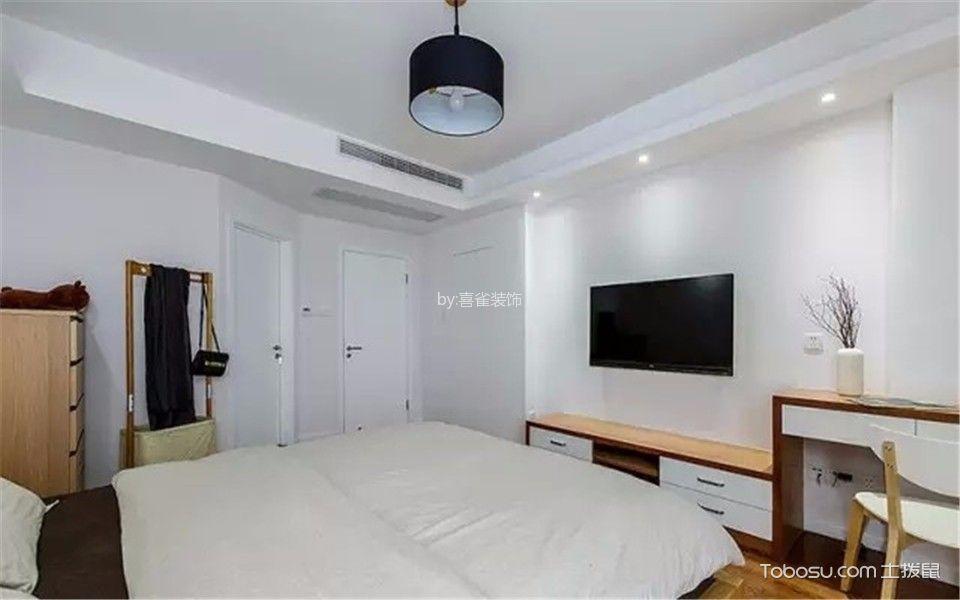 卧室白色电视柜现代简约风格装潢设计图片