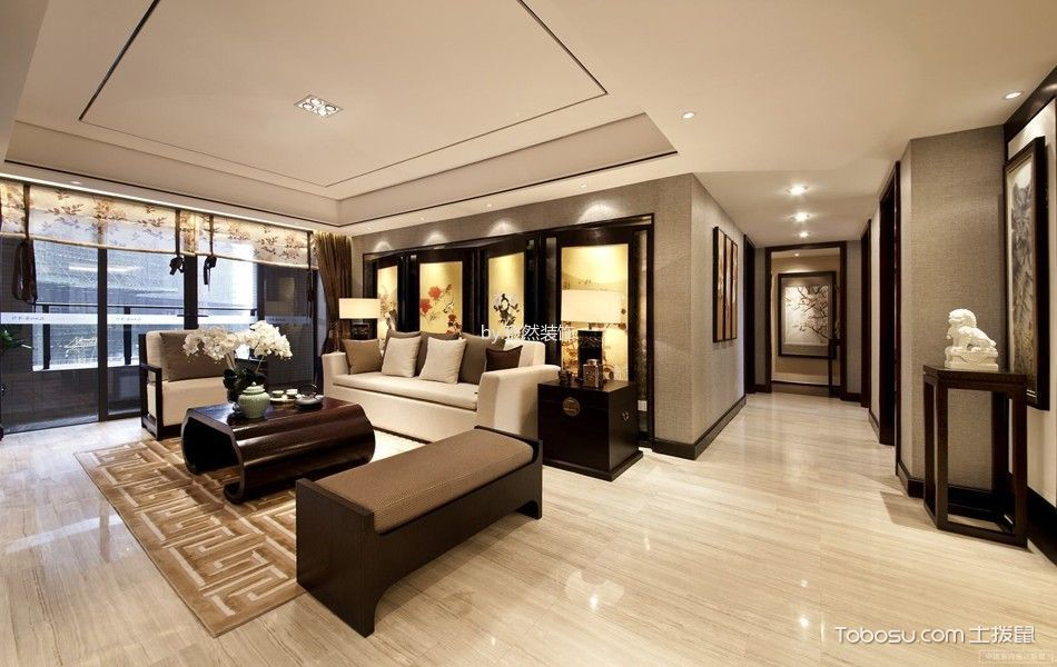 新中式风格150平米大户型室内装修效果图