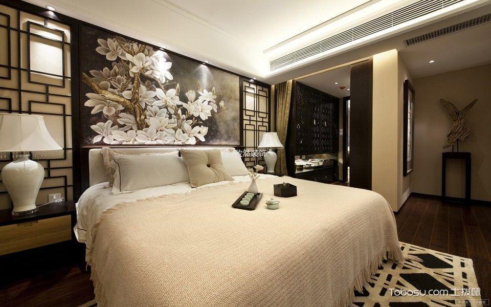 卧室白色床新中式风格效果图