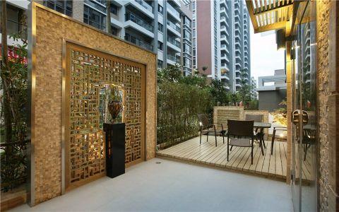 阳台地板砖中式风格装潢图片