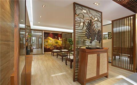 客厅隔断中式风格装修设计图片