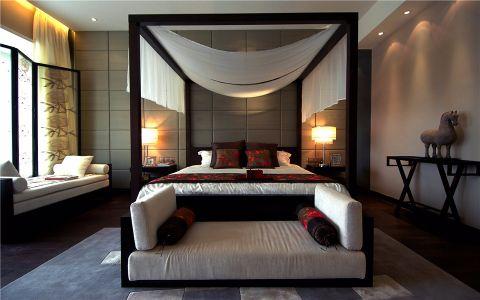 中式风格135平米套房新房装修效果图