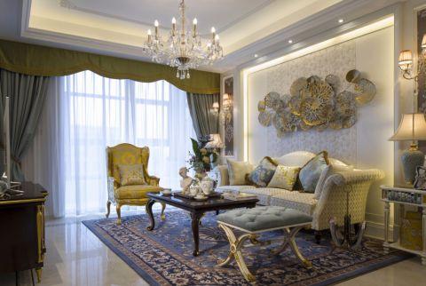 法式风格132平米三室两厅室内装修效果图
