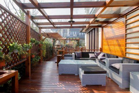阳台地板砖法式风格装修设计图片