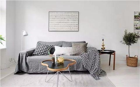 现代简约风格39平米小户型室内装修效果图