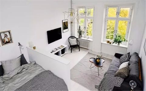 客厅窗台现代简约风格装修设计图片