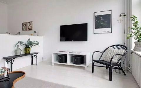 客厅隔断现代简约风格装潢设计图片