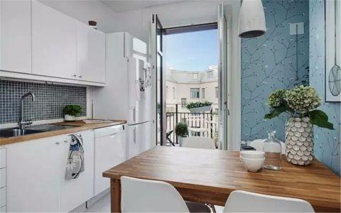 厨房餐桌现代简约风格装潢图片