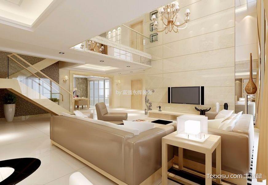 欧式风格150平米复式楼室内装修效果图