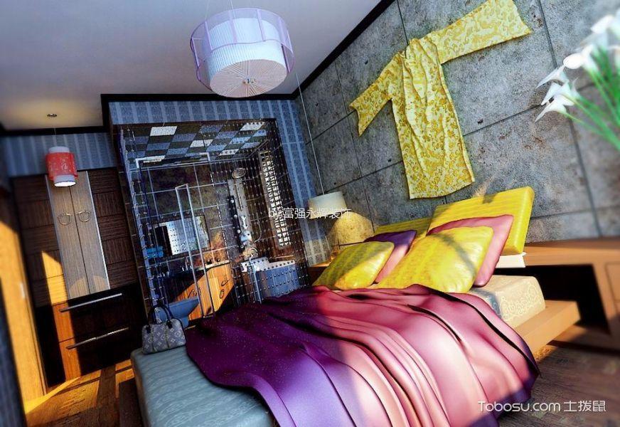 卧室白色吊顶混搭风格效果图