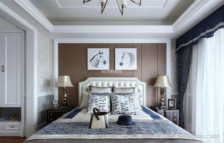 卧室米色床法式风格装饰图片