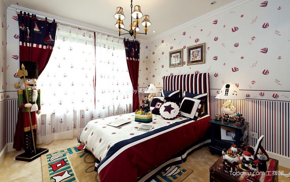 卧室白色吊顶地中海风格装饰图片