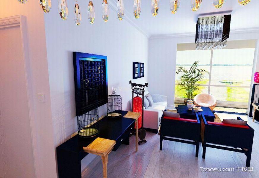 客厅咖啡色地板砖欧式风格装饰设计图片