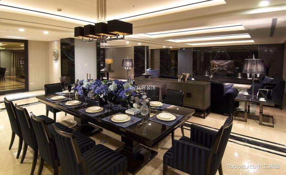 餐厅白色吊顶后现代风格装潢效果图