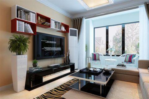 现代简约风格91平米楼房新房装修效果图