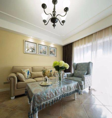 美式风格89平米公寓室内装修效果图