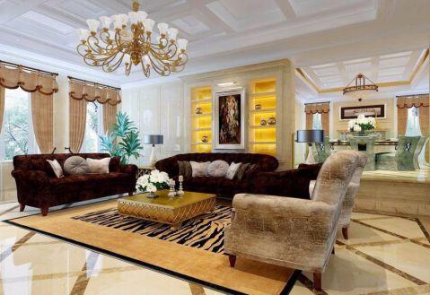 欧式风格320平米别墅室内装修效果图