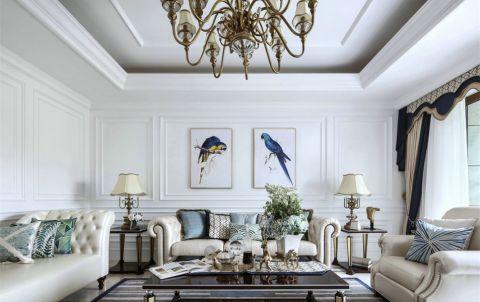 客厅照片墙法式风格装修设计图片