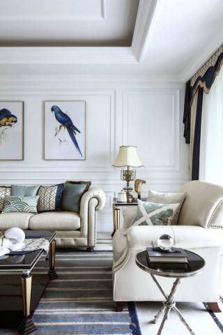 客厅窗帘法式风格装饰设计图片