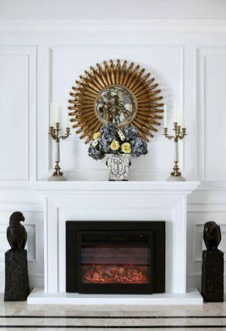 客厅背景墙法式风格装潢设计图片