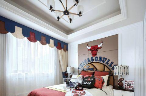 儿童房窗帘法式风格装潢图片