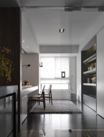 书房地板砖现代简约风格装修图片